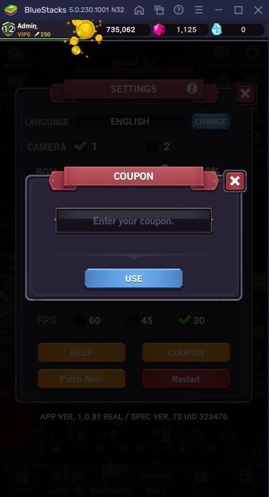 afk dungeon coupon code