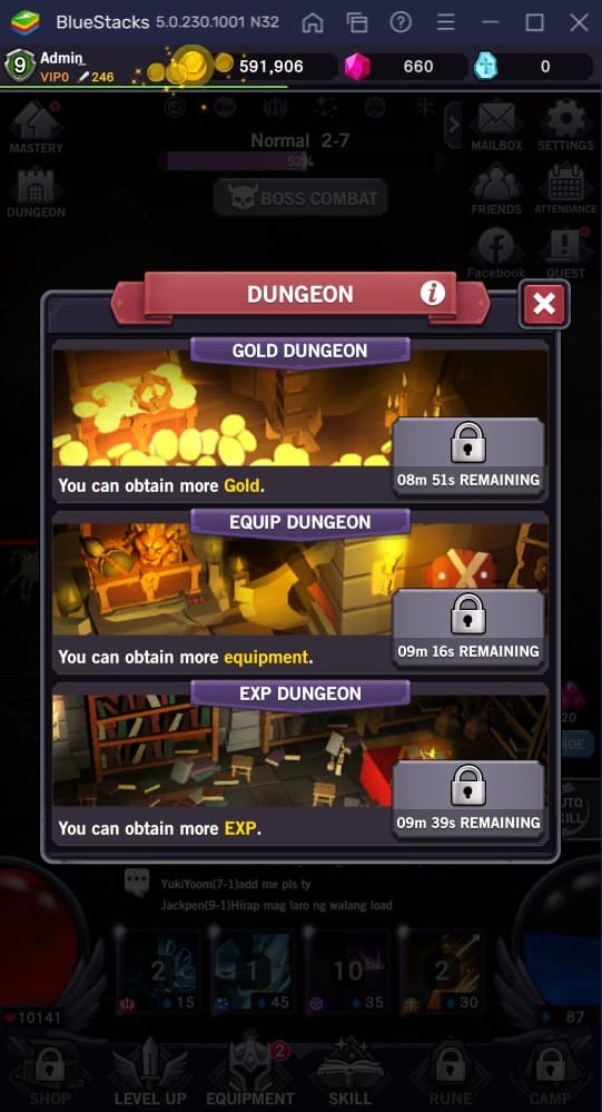 afk dungeon dungeons