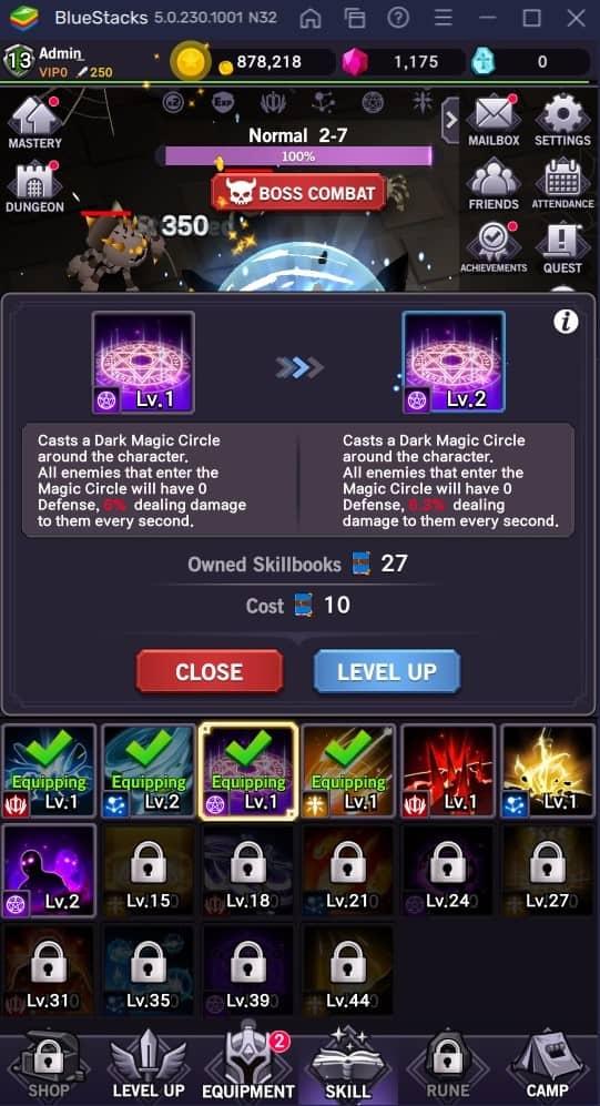 afk dungeon skill upgrade